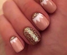 Tribal nude gold accent