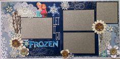 Disney Frozen Scrapbook Layout from Amazing Grace