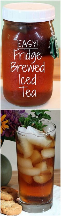 How to Make Refrigerator Iced Tea. No boiling--easy and healthy!