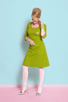 Spring 2017 collection ‹ Margot by MWM Quirky Fashion, Mod Fashion, Girl Fashion, Hot Outfits, Retro Outfits, Pantyhose Outfits, I Dress, Designer Dresses, Vintage Dresses