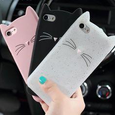3D Cat & Cat Moustache iPhone Case