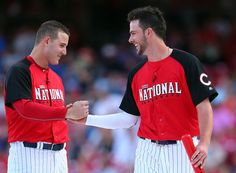 Chicago Cubs Anthony Rizzo & Kris Bryant MLB All star game 2015 Cubs Players, Bae, Albert Pujols, Cubs Win, Go Cubs Go, Hometown Heroes, Baseball Boys, Win Or Lose, Head & Shoulders