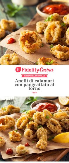 Squid rings with baked breadcrumbs – Shellfish Recipes Calamari, Shellfish Recipes, Antipasto, Bread Crumbs, Food Art, Seafood, Food And Drink, Cooking, Breakfast