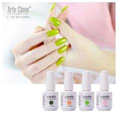 Beautiful 220 Colors 15ml Arte Clavo Choose 1 Color Nail Art Paint UV Gel Lamp Led Nail Gel Color Soak Off Gel Polish
