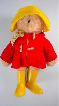 "Make Offer Paddington Bear Large 18"" 1975 Yellow Boots Hat Red Coat Darkest Peru http://www.ebay.com/itm/-/291482947926?roken=cUgayN&soutkn=QxtiSg #70s #toys #vintage #tbt #bogo"