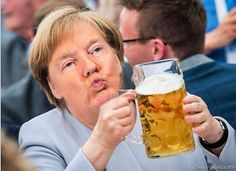 Trump drinks to Victory