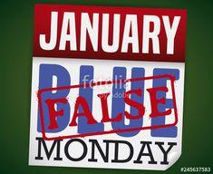 Loose-leaf Calendar with False Stamp for this Blue Monday, Vector Illustration: comprar este vector de stock y explorar vectores similares en Adobe Stock Illustration, Calendar, Stamp, Blue, Stamps, Illustrations, Life Planner