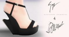 Sculpted Wedge Sandals by MrAntonieddu at MA$ims4 • Sims 4 Updates