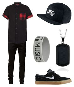 """""""Touch of plaid androgynous"""" by nevada-feasby on Polyvore featuring Jack & Jones, Topman, NIKE and Belk & Co."""