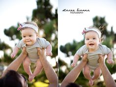 Outdoor baby photo