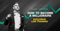 You won't believe the ways you'll be able to take control of your income and increase it after Grant walks you through how to your paycheck and become a millionaire. This is for those that are serious about their money Set Your Goals, Achieve Your Goals, Grant Cardone, Become A Millionaire, Tips Online, You Changed, Walks, Saving Money, Finance