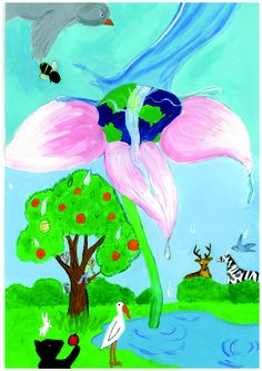 2013 International Children's Painting Competition Finalist, Angela Yang, Age 8 #WED2013