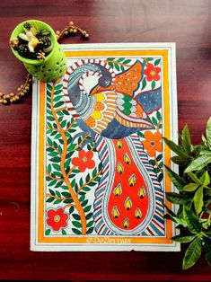 Madhubani Painting, Art School, Peacock, Harvest, Ads, Traditional, Handmade, Beautiful, School Of Arts