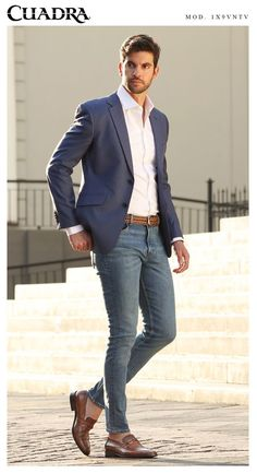 12 Boss Outfits Every Journalist Needs ASAP Whether you are just beginning or are already in the field, every journalist should own at least one boss-outfit. So check out these 12 boss-outfits now! Blazer Outfits Men, Mens Fashion Blazer, Stylish Mens Outfits, Suit Fashion, Fashion Edgy, Fashion Fall, Style Fashion, Men's Outfits, Denim Outfit
