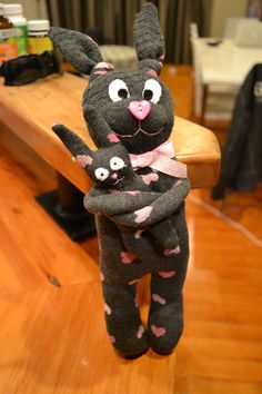 Sock bunny and baby