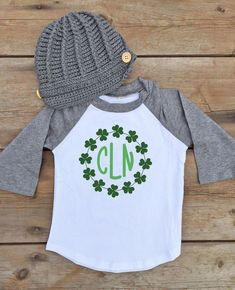 Cute monogram St Patricks Day shirt for boys! Monogram Shirts, Vinyl Shirts, St Paddys Day, St Patricks Day, Saint Patricks, St Patrick's Day Outfit, Outfit Of The Day, Baby Boy Scrapbook, Mommy And Me Shirt