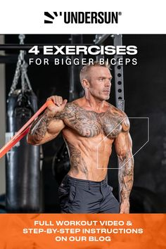 With resistance bands, you can train from all angles to maximize your biceps size. Learn how to build bigger arms anywhere without sacrificing gains with these muscle-building exercises using only resistance bands. Check out our blog! Big Biceps, Bigger Arms, Muscle Building Workouts, Resistance Band Exercises, Build Muscle, Step By Step Instructions, Workout Videos, Angles, Fitness
