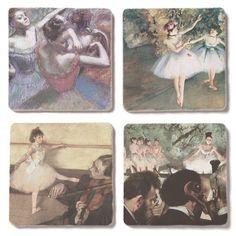 Degas Dancers Tumbled Tile Coasters