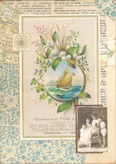 Lambsworld: Vintage GlueBook Page Swap