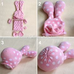 Free Sock Animal Patterns | Stuff ear with poly-fill stuffing material. Only stuff the end and ...