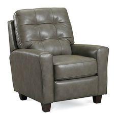 """Emily high leg recliner Outside 34""""W x 39""""D x 39""""H Inside D:  20""""W x 21""""D x 21""""H"""