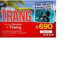 Asia Air- low cost flights within Thailand
