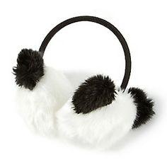 Furry Panda Earmuffs