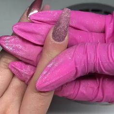 I Got Tired of Boring Nail Art - I never knew it was so easy to achieve outstanding nail art design.I can finally save big on nail d - Acrylic Nail Powder, Cute Acrylic Nails, Powder Nails, Cute Nails, Pretty Nails, Acrylic Nails Chrome, Pink Nails, Glitter Nails, Hair And Nails