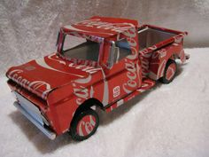 recycled handmade aluminum can 67 Chevy truck by CANARTCRAFTS2204, $29.95