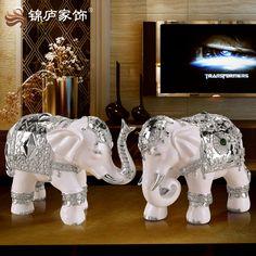 Vinho armário TV sala de estar Mobiliário Doméstico ornamentos elefante Europeu macio ornamento artesanato presentes de abertura de inauguração(China (Mainland))