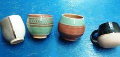 Mates hechos en ceramica, en Bs. Aires.   -lbk- Argentina Culture, Bowls, Pottery, Mugs, Tableware, Style, Bottles, Sugar Bowls, Mud
