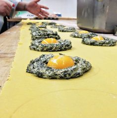 EATING AROUND   Hungry? The pasta ladies of Nico Osteria are hard at work making Ravioli Gigante for lunch.