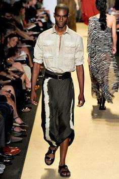 Michael Kors Spring 2012 Menswear Corey Baptiste