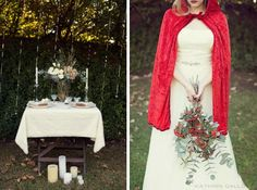 Slip away and into a dreamy storybook styled shoot scene, inspired by the tale of Red Riding Hood and photographed by the lovely Kathrin Gallova. Red Riding Hood, Stunning Dresses, Little Red, Bliss, Events, Bridal, Inspired, Sewing, Model