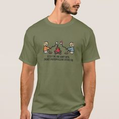 Marshmallow Catches Fire - Humorous T-Shirt - tap to personalize and get yours