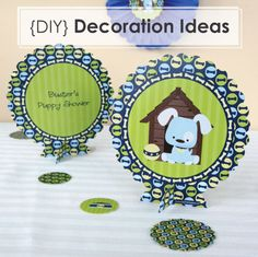 DIY Party Decoration Ideas {Dog Party Centerpiece Kits}