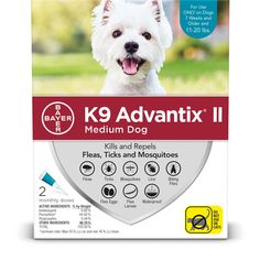 Advantix Ii Topical Medium Dog Flea Amp Tick Treatment Pack Of 2 Petco Best Small Dog Breeds, Best Small Dogs, Mosquito Repellent For Dogs, Rocky Mountain Spotted Fever, Ticks On Dogs, Dog Breeds List, Sick Dog, Wild Bird Food
