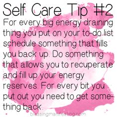 Blessing Manifesting - Self care Tip