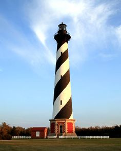 Cape Hatteras Lighthouse towers at 208ft and is a bit strenuous but worth the climb up