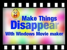 How to make things Appear and disappear using Windows Movie Maker (WMM) Tutorial. - Education - Welcome Education Windows Movie Maker, Making Youtube Videos, Easy Youtube, Teacher Websites, Teacher Hacks, Video Websites, Bar Model, Music Clips, Simple Machines
