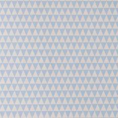 Bomull lys blå/sand trekanter