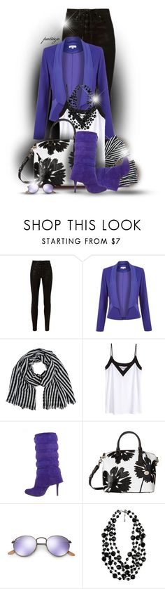 """""""Cobalt Boots"""" by rockreborn ❤ liked on Polyvore featuring rag & bone, Kaliko, H&M, Chinese Laundry, Brahmin, Ray-Ban and Forever 21"""