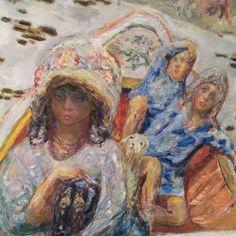 PIERRE BONNARD.  Three Girls on a Boat.