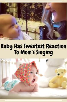 Baby Has Sweetest Reaction To Mom's Singing Fun Baby, Mom And Baby, Baby Quotes, Baby Needs, Mother And Child, Baby Decor, Cool Baby Stuff, Baby Food Recipes, Baby Room