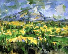 1.)Paul CEZANNE - 2.)La montagne Sainte Victoire 3.)1902-04 4.) Style-romanticism
