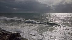 Stormy Day Waves Cloudy Day, Waves, California, Explore, Beach, Outdoor, Outdoors, The Beach, Seaside