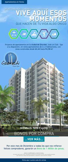 #NOVOCLICK esta con #Cabrechi #Club-Spa #ApartamentosGirardot Spa, E-mail Marketing, Club, Weather, Cities, Blue Prints