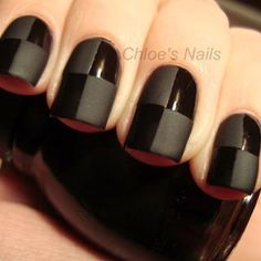 Black is classic! Black nail art designs can instantly add glamour to your look. The best thing about painting your nails black. type of black nail art 2018 Black Nails, Matte Nails, Matte Black, Black Polish, Black On Black, Total Black, Black Plaid, Black Onyx, Gorgeous Nails