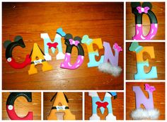 Mickey and friends letters
