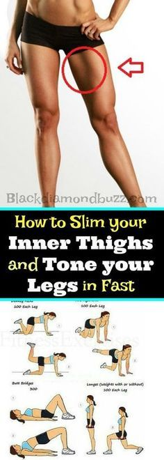 How to Slim your Inner Thighs and Tone your Legs in Fast in 30 days. These exercises will help you to get rid fat below body and burn the upper and inner thigh fat Fast. by eva.ritz